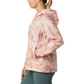 Columbia Flash Forward Printed Windbreaker Jacke Damen peach cloud rubbed texture